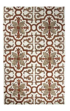 Casual Rust Area Rug