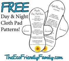 Thanks for this FREE reusable Cloth Pad liners pattern @Amanda Hearn !