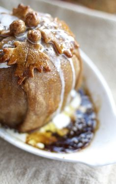 Baked Apple Dumplings w/Sweet Browned Butter Sauce perfect for Thanksgiving Fall Desserts, Just Desserts, Delicious Desserts, Dessert Recipes, Yummy Food, Apple Recipes, Fall Recipes, Holiday Recipes, Brown Butter Sauce