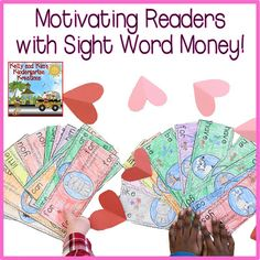 The Primary Pack: Motivating Readers with Sight Word Money (Freebie Included! Small Group Activities, Learning Games For Kids, First Grade Activities, Sight Word Activities, Writing Activities, Preschool Activities, Sight Word Readers, Reward System, High Frequency Words