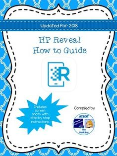 """This is a free """"how to"""" guide for the HP Reveal app and HP Reveal Studio. It will walk you through how to make """"auras"""" and augment your teaching with the help of augmented reality! HP Reveal is a free app and is available in the App store and on Google Play. **************************************************************************** Please let me know what you think! Augmented Reality Apps, Virtual Reality, Ela Classroom, Digital Literacy, Auras, App Store, Google Play, The Help, Tecnologia"""