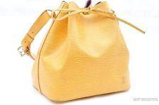 Authentic Louis Vuitton Epi Petit Noe Yellow Shoulder Bag LV 23726