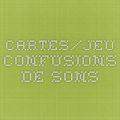 cartes/jeu confusions de sons