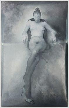Mao Yan, Faerir on the Chair, 2013. Oil on Canvas, 330 x 200 cm