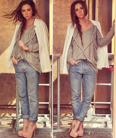 WOW I love this relaxed style, espesh with the HEELS. not to mention she's gorgeous!