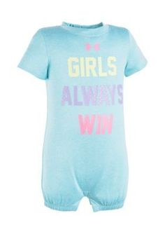 Under Armour Blue Girls Always Win Coverall