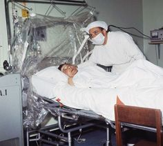 First human heart transplant. Dr. Christiaan Barnard is shown after performing the first human heart transplant on patient Louis Washkansky on December 3, 1967, in Cape Town, South Africa.