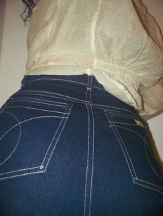 High Waisted Calvin Klein Jeans1980sHigh by JunkMaster Dark Blue Jeans bfca985a93