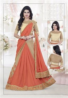 Buy designer party wear lehenga choli from our latest collection. Order this savory embroidered and patch border work lehenga choli. Lehenga Style Saree, Lehenga Choli Online, Bridal Lehenga Choli, Indian Lehenga, Silk Lehenga, Silk Sarees, Choli Designs, Saree Blouse Designs, Raw Silk Saree