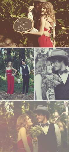 Praise Wedding » Wedding Inspiration and Planning » A Stylish Engagement Session in the Woods – Anna & Ben