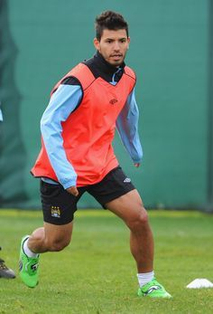 Sergio Aguero Photos: Manchester City Training and Press Conference