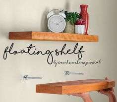 Learn to make these DIY Floating Shelves by Woodworker's Journal to upgrade any space! Find plans on RYOBI Nation.