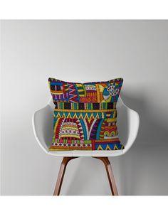 Fata de Perna Decorativa Ethnic 44x44 cm Eames, Best Sellers, Captain Hat, Throw Pillows, Chair, Home Decor, Photos, Fairy Houses, Toss Pillows