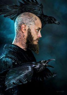 Travis Fimmel/Ragnar in The Vikings Vikings Tv Series, Vikings Tv Show, Viking Warrior, Viking Age, Viking Shop, Viking Wallpaper, Ragnar Lothbrok Vikings, Vikings Season 4, Vikings Travis Fimmel