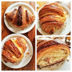 Tartine Bakery & Cafe-Plain and ham and cheese croissants