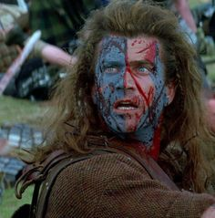 "Mel Gibson en""Braveheart"", 1995"