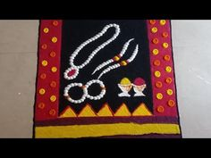 Haldi Kumkum Rangoli|Haldi Kunku Rangoli|Saree Rangoli Designs|Sankranti Special Black Saree|Saree - YouTube Easy Rangoli Designs Videos, Easy Rangoli Designs Diwali, Indian Rangoli Designs, Rangoli Designs Latest, Rangoli Designs Flower, Free Hand Rangoli Design, Rangoli Patterns, Colorful Rangoli Designs, Rangoli Ideas