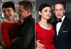 Ginnifer Goodwin and Josh Dallas: How sweet is this: not only do Ginnifer Goodwin and Josh Dallas play a romantic-sounding couple on TV (Snow White and Prince Charming), they're in love in real life too. What a fairy-tale ending.
