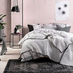 Is your quilt too hot to handle... Don't worry we've got you covered with #coverlets for the warmer months ahead.  #Linenhouse #Mireya #Coverlet LINENHOUSE.COM ♡