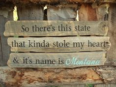 Montana Wood Sign Rustic Montana Sign So by BearlyInMontana