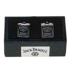 Jack Daniels Cufflinks in Personalised Gift Box...would of been perfect for our wedding!