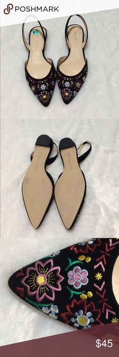 IVANKA TRUMP SLING BACK FLATS/SANDALS NWOB NWOB in great condition. Some wear due to being tried on in store but otherwise great shoes. Marked 8.5 but they were a bit small for me. I feel they are geared more to a size 8 so if this is you, you'll love this adorable sandal. Ivanka Trump Shoes Flats & Loafers