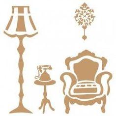 TODO Stencil Deco mini Vintage Figura 067 M Figura para artesan/ías decoraci/ón de muebles y m/ás