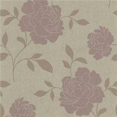 301-66921 Brass Floral Silhouette - Clara - Kenneth James Wallpaper