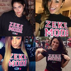The girls are going nuts over Zeke! Turn your Zeke Mode on now! Tees and Hoodies available.