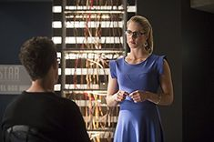 Tom Cavanagh and Emily Bett Rickards in The Flash (2014)
