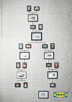 Genious: las árvores genealógicas by IKEA #advertising #infographic #fun