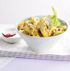 Grillowany kurczak w curry z ryżem z papryką. Kuchnia Lidla - Lidl Polska. #lidl #azja #vitasia #curry #kurczak