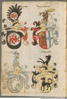 Tirol, Anton: Wappenbuch Süddeutschland, Ende 15. Jh. - 1540 Cod.icon. 310  Folio 4v