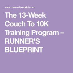 The 13-Week Couch To 10K Training Program – RUNNER'S BLUEPRINT
