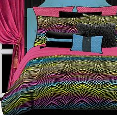 For an eye catching bedroom, decorate with zebra bedding. Choose from several styles of zebra print comforter sets to complement your zebra themed bedroom. Full Comforter Sets, Bedding Sets, Bed Sets, Twin Comforter, Girl Bedding, Black Bedding, Zebra Print Bedding, Console, Rainbow Bedding