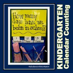 How many days have we been in school? Kindergarten Counting via RainbowsWithinReach