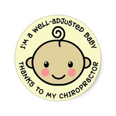 Well-Adjusted Baby Chiropractic Stickers