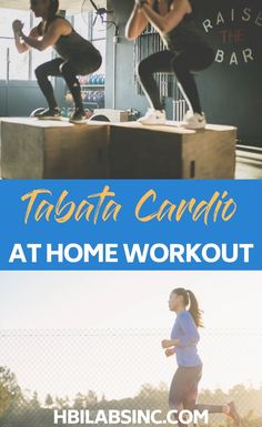 This at home Tabata cardio workout can be done just about anywhere and is effective for any fitness level. At-Home Workout Ideas Tabata Cardio, Fat Burning Cardio Workout, Hit Cardio, Arm Workouts At Home, Cardio Workout At Home, Hip Workout, Workout Ideas, Body Fitness, Fitness Tips