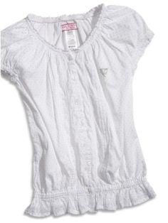 GUESS Kids Girls Big Girl Woven Peasant Top « Clothing Impulse