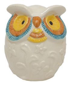 Another great find on #zulily! Yellow Eyes Owl Décor by Three Hands Corporation #zulilyfinds