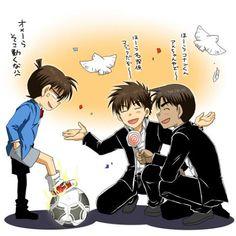 Kudou Shinichi, Hattori Heiji, Kuroba Kaito