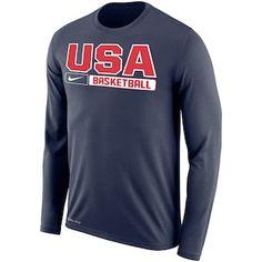 USA Basketball Nike Legend 2.0 Long Sleeve T-Shirt – Navy Fan Gear 8f9e817d5