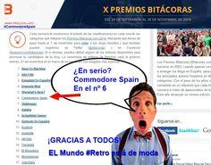 Sigue nuestra aventura en los Bitácoras 2014 | Commodore Spain