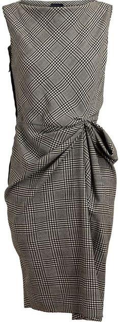 Lanvin Checked Wool Dress