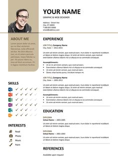 Centrum Free Resume Template Microsoft Word  Blue Layout