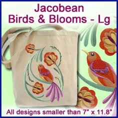 A Jacobean Birds & Blooms Design Pack - Lg