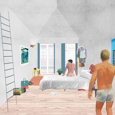 A imagem fala: ou, Por que precisamos ir além dos renders,Edifício com três apartamentos, Porto, Portugal. Image Cortesia de FALA Atelier