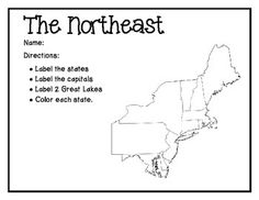 Learning about the Northeast Region of the U.S | Unit Ideas ...