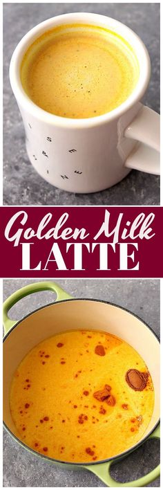 Golden Milk Latte Recipe - delicious immune-boosting drink with turmeric, cinnamon, ginger and your choice of milk.