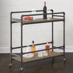 BAR CART OPTION 1 - Stockton Industrial Bar Cart $197.99